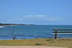 Looking North [Innes Park Beach] (Dreaming of the Sea) Tags: 2019 bluesky water tamronsp2470mmf28divcusd bundaberg queensland australia rocks reflections coralsea clouds innespark sea ocean deadtree waves coralcove fantasticmonday