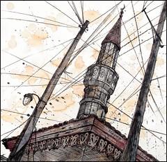 TWO LAMP-POSTS AND A MINARET (CrimeanArtist) Tags: крым крим къырым kırım qırım krym krim россия crimean крымский бахчисарай bağçasaray багъчасарай bahçesaray bakhchisaray bahchisaray bahchisaraj ottoman turkish osmanlı крымское ханство hanlığı yurtu khanate islâm islam islamic muslim ислам mescit mezquita mosquée moschea moschee minarete alminar minareto architecture arquitectura архитектура urban sketch къырымтатар къырымтатарлар qırımtatar qırımtatarlar kırımtatar kırımtatarlar къырымлы qırımlı kırımlı tatar tatarlar крымскотатарский кримські qırımlıq kırımlık къырымлыкъ mimari рисунок живопись скетч тушь drawing painting ink pencil camii bajchisarái bachczysaraj bakhtchissaraï bachtschyssaraj ngc natgeo