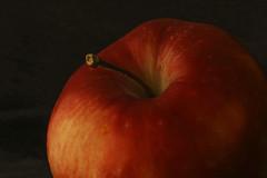 an apple (maotaola) Tags: lookingcloseonfriday apple manzana hardlight red redapple food apples manzanas macrofotografía