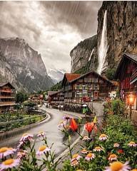 Schweiz - LAUTERBRUNNEN - Rainy Day (monte-leone) Tags: lauterbrunnen lauterbrunnenpanorama panorama schweiz switzerland