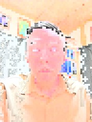 Filter to Emphasize Gray Hair (sjrankin) Tags: 18march2019 edited kitahiroshima hokkaido japan test output processed filtered pixellate colors hair selfie selfportrait family me