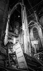 Doorway to no where (Wits End Photography) Tags: neglected color decay church old blackwhite rejected discarded structure forsaken religion religious blackandwhite abandoned grey monochrome gray spiritual black forgotten architecture decayed bw stlouis building white