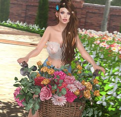 Handmade Heaven (EnviouSLAY) Tags: flowers bike park parkscene scene secondlifefashion secondlifephotography butterfly lace top shorts denim blue white brunette longhair long hair nails kuni newreleases new releases cosmicdust cosmic dust blueberry dustbunny bunny pinkfuel pink fuel letre colivatibeauty colivati beauty eyebrows lipstick makeup eyeshadow ascendent belleza bento freya genus classic kustom9 kustom 9 equal10 equal 10 monthlyevent monthlyfashion monthlyfair monthly event fair fashion pale female male gay lgbt blogger secondlife second life photography