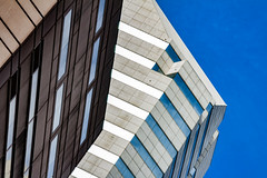 (jfre81) Tags: houston downtown architecture building minimalist abstract composition pattern geometry blue sky onblue lines diagonal vertical shape form htown htx 713 james fremont photography jfre81 canon rebel xs eos