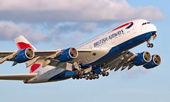 G-XLEF - Airbus A380-841 - LHR (Seán Noel O'Connell) Tags: britishairways ba speedbird gxlef airbus a380841 a380 a388 heathrowairport heathrow lhr egll jnb faor ba55 baw55k aviation avgeek aviationphotography planespotting