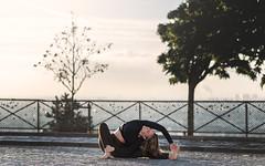 (dimitryroulland) Tags: nikon d750 85mm 18 dimitryroulland yoga yogini natural light montmartre performer art artist flexible people flexibility paris france urban street city