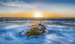 Tidal Swirl At Sunset (DHHphotos) Tags: ogmore by sea bridgend vale glamorgan wales ngc