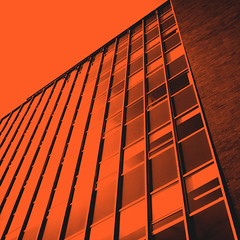 day 9 (Randomographer) Tags: project365 building duotone lines perspective glass window brick orange up 9 2019 365