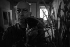 Just me -  Cortona (Arezzo) - December 2018 (cava961) Tags: portrait analogue analogico monochrome monocromo bianconero bw grain