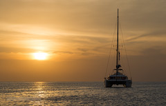 Sailing Catamaran at sunset                     XOKA4997s (Phuketian.S) Tags: sunset phuket yacht catamaran sea ocean thailand naiharn beach bali45 sky cloud sun landscape travel sailing relax leg meditation water пхукет яхта катмаран закат найхарн пляж море океан таиланд тайланд ноги штурвал яхтинг солнце природа nature phuketian boat balicatamaran