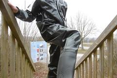 going up (lulax40) Tags: pros extreme rubber rubberboots rainwear regenkleidung raingear rubberfetish rubberslave rubbergear rubberman pvc public gummistiefel gummimann gummisklave gummiregenkleidung gummianzug