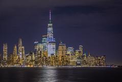 The Freedom Tower (aurlien.leroch) Tags: thefreedomtower lowermanhattan nyc usa oneworldtradecenter longexposure hoboken night nikon wallstreet
