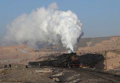 I_B_IMG_1648 (florian_grupp) Tags: asia china steam train railway railroad sandaoling xinjiang muslim desert landscape js ore mine 282 mikado steamlocomotive locomotive opencastmine