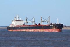 Spar Mira (Das Boot 160) Tags: sparmira bulker ships sea ship river rivermersey port docks docking dock boat boats maritime mersey merseyshipping