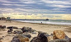 Harbor Beach 6-2-20-19 (rod1691) Tags: oceanside california harbor beach rocks clouds sand surf canon 50d
