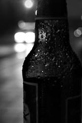 Bottled Troubles Mono (Callums art) Tags: bottle bottles glass night nightphoto nightphotography nightphotographer digbeth urban street birmingham brum england uk unitedkingdom city citylife citylights bokeh bokehful