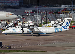 G-ECOT Bombardier DHC-8-Q400 Dash Eight of Flybe (SteveDHall) Tags: aircraft airport aviation airfield aerodrome aeroplane airplane airliner airliners 2019 ringway manchester manchesterairport man egcc gecot bombardierdhc8400dasheight flybe bombardier dash8 dasheight dhc8q400dasheight q400