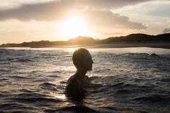 Livre (Edward Zulawski) Tags: art artistic portrait color sunset sun sky clouds water sea landscape woman girl brazil dune beach intense