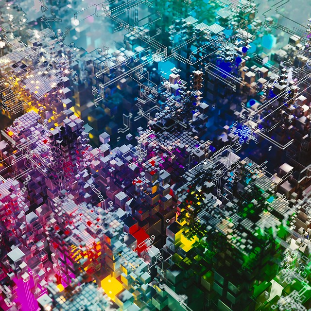 Обои строение, сложный, детали, разноцветный, 3d картинки на рабочий стол, фото скачать бесплатно