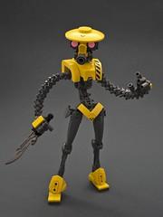 Gelbmesser (Djokson) Tags: ninja robot mercenary merc cyborg soldier warrior knife assassin cyberpunk ego bionicle moc toy model djokson
