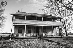 IMG_8207logo (Annie Chartrand) Tags: farmhouse house abandoned ruraldecay illinois calhouncounty antique monochrome bw blackandwhite