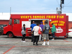 Vicky's Famous Fried Fish (Multielvi) Tags: cowtown rodeo pilesgrove new jersey flea market vicky famous fried fish food truck nj