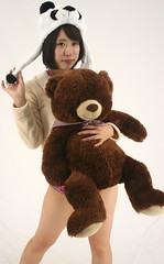 Bears Could Barely Wait (emotiroi auranaut) Tags: woman lady bear costume cute pretty beauty model panda 2018 2019 fun eager