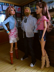 The Bar Staff. (Blondeactionman) Tags: action man barbie teresa playscale diorama ammoarms bar staff 16 sixth scale