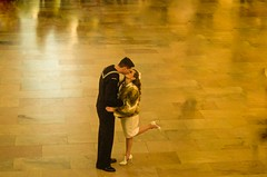 Engagement at the Grand Central. (Capitancapitan) Tags: camera central city engagement girls grand manhattan new pentax york colors neury luciano instagram youtube film pop rock urim y tumim