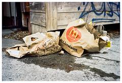 Fast Food War Casualties (SebRiv) Tags: firstroll contaxt2 kodak400