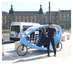 French Police not happy with new Police Trikes! (The Stig 2009) Tags: paris police france french trike transport fun candid man uniform street thestig2009 thestig stig 2009 2018 tony o tonyo angry happy not 2019