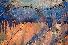 The wall (Eva Haertel) Tags: eva haertel sony strase street stadt city outdoor pflanzen plants trocken dry efeu ivy wand wall colors farben tropfen drops fliesen flow abstrakt abstract struktur structure fraffiti painting