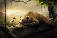 tired bear (photostudio-54) Tags: landschaft leipzig natur kunstwerk composing color kind bildbearbeitung bär