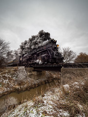 1225 Crosses the Trestle (MacDonald_Photo) Tags: jamieamacdonald sl33stak zd lightroom oly olympus zuiko eatonrapids michigan getolympus omd omdem1mkii μ43photography μ43 em1mkii omdem1markii mzuiko714mmf28pro 714mm train polarexpress thepolarexpress travel