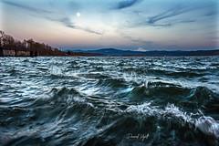 Rough River (Darrell Wyatt) Tags: columbia river hood mountain waves wind clouds moon washougal camas washington home