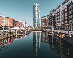 Portsmouth   |   No 1 Gunwharf Quays (JB_1984) Tags: no1gunwharfquays thelipstick tower skyscraper water reflection gunwharfquays pompey portsmouthharbour portsmouth hampshire england uk unitedkingdom nikon d500 nikond500