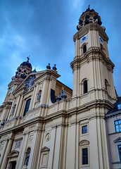 Theatinerkirche (MAKER Photography) Tags: theatinerkirche church munich germany sky clouds building windows window architecture oneplus 6 smartphone phone mobile