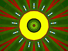 Yellow Eye (Kombizz) Tags: c392 kombizz kaleidoscope experimentalart experimentalphotoart photoart epa samsung samsunggalaxy fx abstract pattern art artwork geometricart yelloweye yellow green red white black