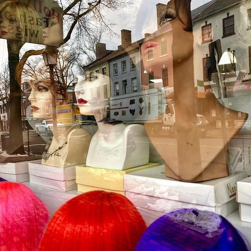 """Hollywood Fashion Wigs"" - Shop Window, Old Town Alexandria"