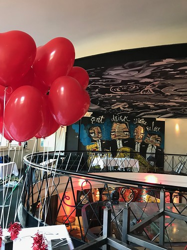 Tafeldecoratie 2ballonnen Hartballonnen Valentijnsdag The Harbourclub Rotterdam