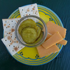 Yummy Snack (Room With A View) Tags: plate pickles crackers cheese odc