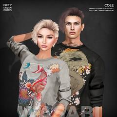 Cole Exclusive Pack for 50L Fridays! (Wasabi // Hair Store) Tags: 3d hair secondlife wasabipills catwa glamaffair aviglam league maitreya signature straydog whitewidow toksik