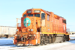 Orange Yard Goat (recekasten) Tags: eje cn csx wisconsin kcs railroad wc neenah