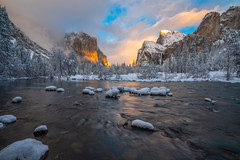 Yosemite Winter Storm Valley View El Capitan Merced River Bridalveil Falls Blue Skies Snow Winter Photography! Sony A7R III & FE 16–35 mm G Master Wide-Angle Zoom Lens SEL1635GM Winter Snow Fine Art Yosemite National Park Winter Snow California Landscape! (45SURF Hero's Odyssey Mythology Landscapes & Godde) Tags: yosemite winter storm valley view el capitan merced river bridalveil falls blue skies snow photography sony a7r iii fe 16–35 mm g master wideangle zoom lens sel1635gm fine art national park california landscape