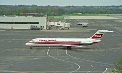 Almost at the Gate (craigsanders429) Tags: twa transworldairlines portcolumbusairport johnglenncolumbusinternationalairport columbusohio dc9 aircraft airlines airliners airplanes airports jet jetliner