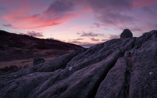 Limestone Pavement at Sunset, Strath Fionan