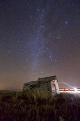 Mossleigh shack Milky Way (John Andersen (JPAndersen images)) Tags: abandoned alberta constellations mossleigh night sky stars
