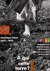 1992 – À qui cette terre? (PPP-ADC) Tags: affiche oecuménique 1992 à qui cette terre
