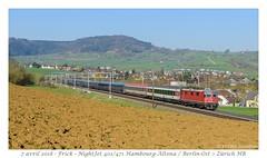 Re 420 NightJet - Frick (CC72080) Tags: frick cff sbb ffs re420 re44 nightjet cnl öbb locomotive train zug personenzug