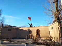 Artsakh War Monument in Gyumri (Alexanyan) Tags: gyumri city shirak marz region armenia artsakh war monument armenian flag cross stone